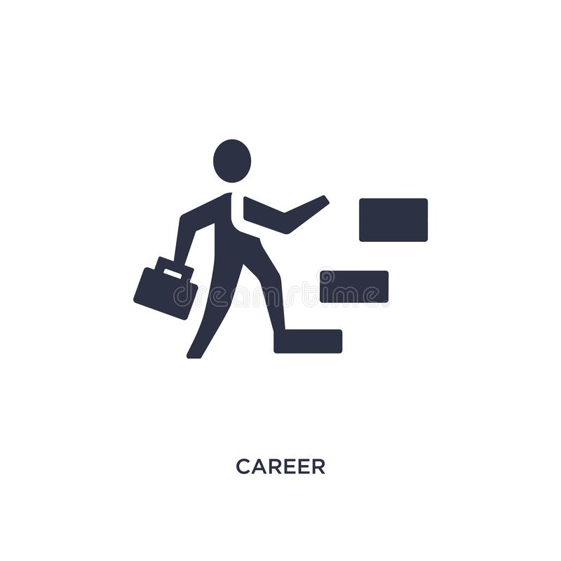 career icon on white background. Simple element illustration from human resources concept vector illustration