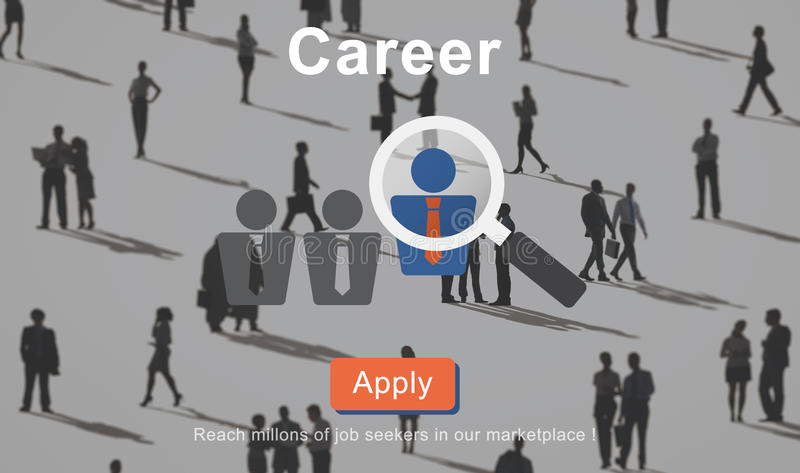 Career Job Profession Apply Hiring Concept vector illustration