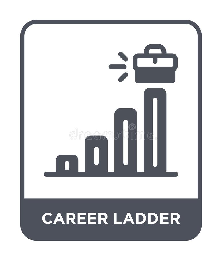 career ladder icon in trendy design style. career ladder icon isolated on white background. career ladder vector icon simple and vector illustration