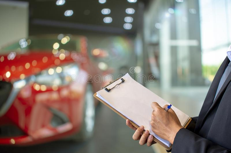 This career man saleman business inspection writing note on note royalty free stock photography