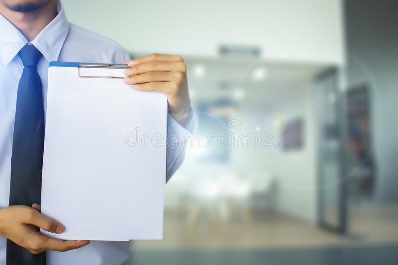 This career man saleman business inspection writing on notepad stock photo
