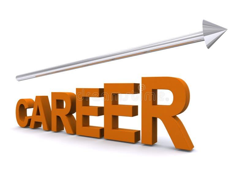 Career moving upwards stock illustration