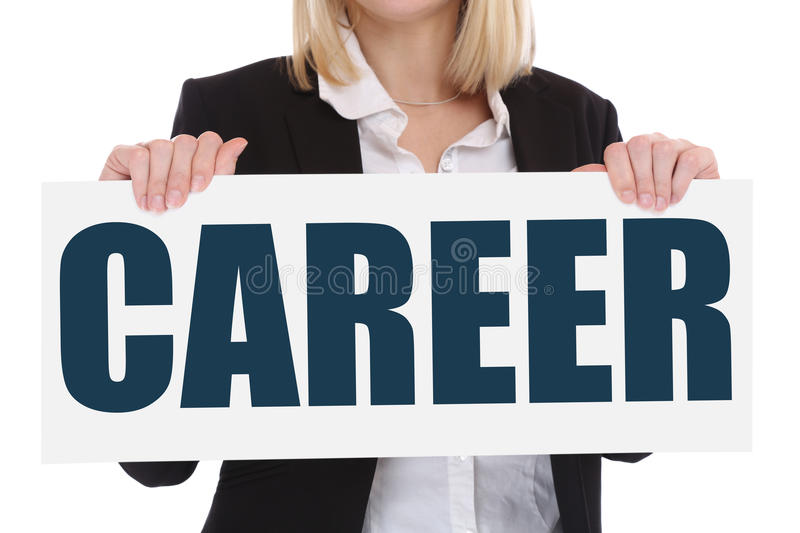 Career opportunities goals success and development business concept royalty free stock photography