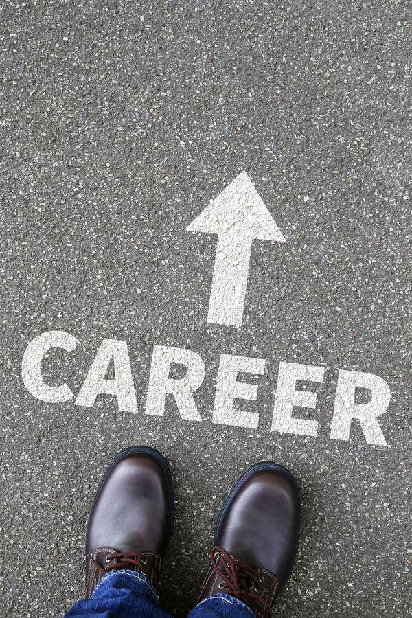 Career opportunities goals success and development business concept stock photography