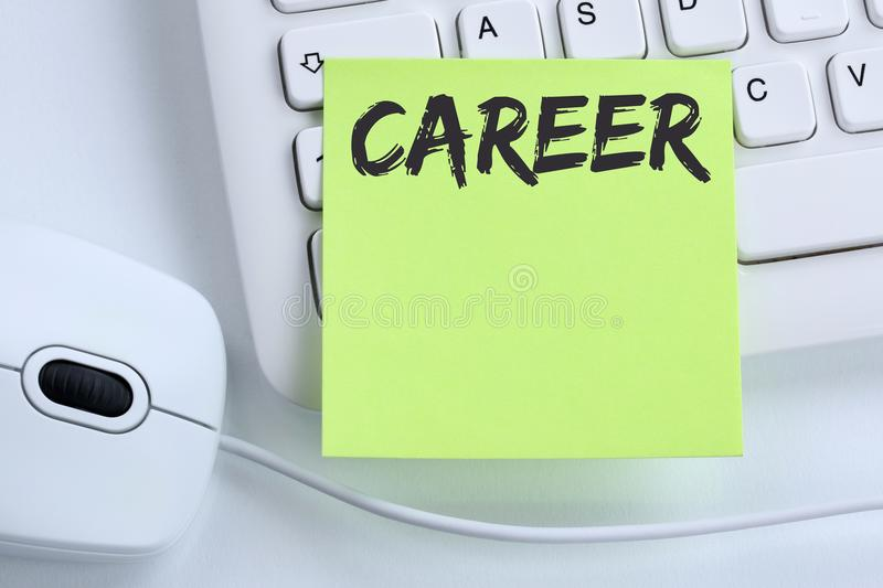 Career opportunities goals success and development business concept mouse stock photo