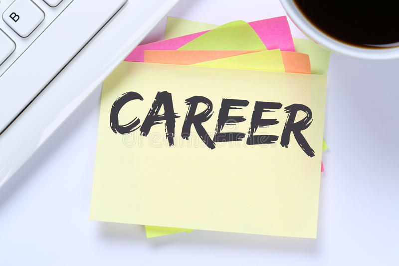 Career opportunities goals success and development business desk royalty free stock photos