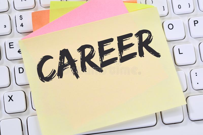 Career opportunities goals success and development note paper bu stock photo