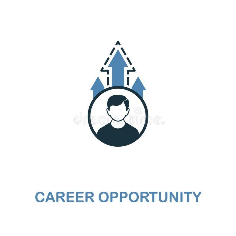 Career Opportunity icon. Two colors premium design from management icons collection. Pixel perfect simple pictogram career. Opportunity icon. UX and UI usage stock illustration
