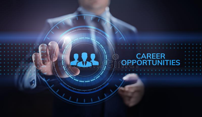 Career opportunity personal growth business concept on screen. Career opportunity personal growth business concept on screen royalty free stock image