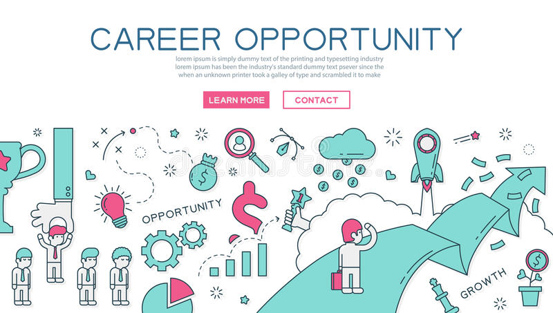 Career opportunity for website banner and landing page. Eps10 vector format royalty free illustration