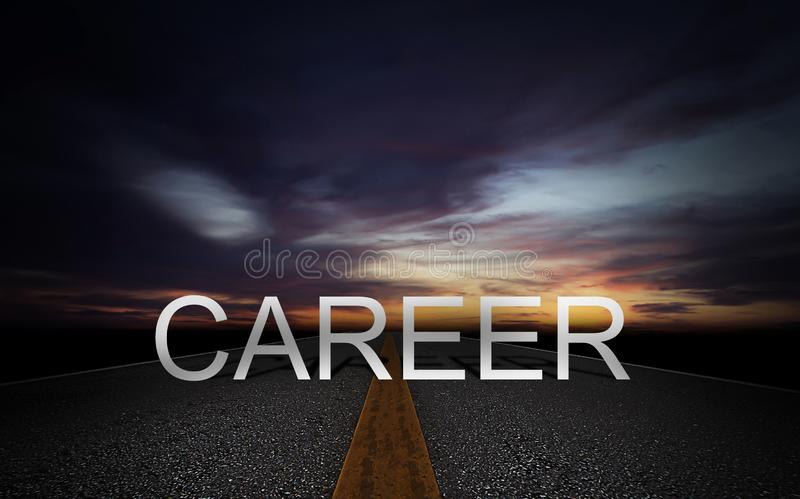 Career Path Concept royalty free stock photos