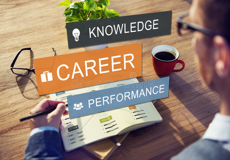 Career Performance Knowledge Word Concept stock image
