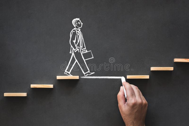 Career Planning and Business Challenge Concept stock image