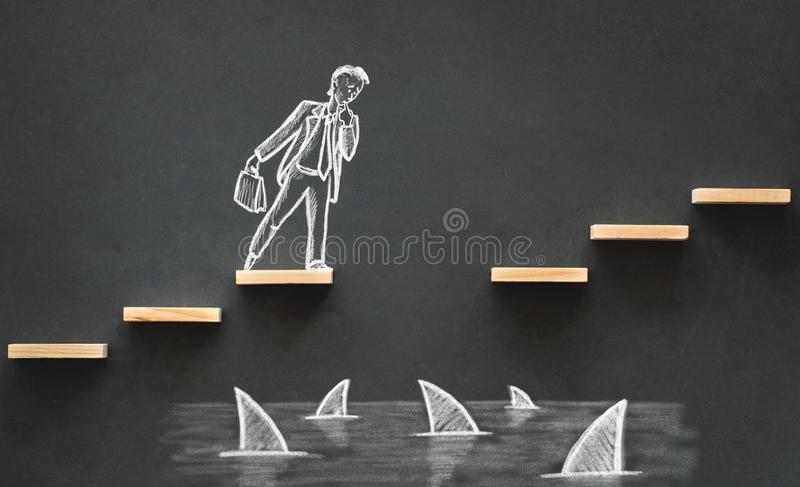 Career Planning and Business Challenge Concept royalty free stock photo