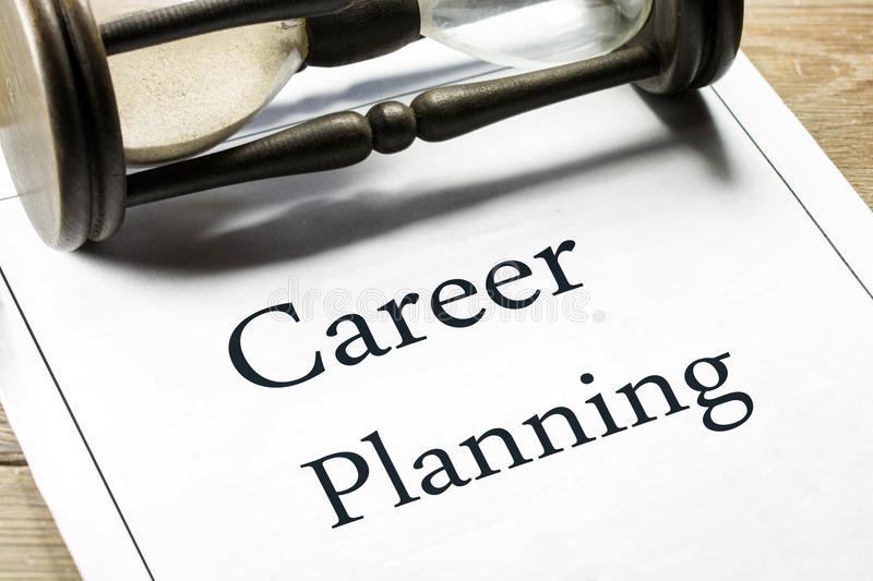 Career planning royalty free stock images