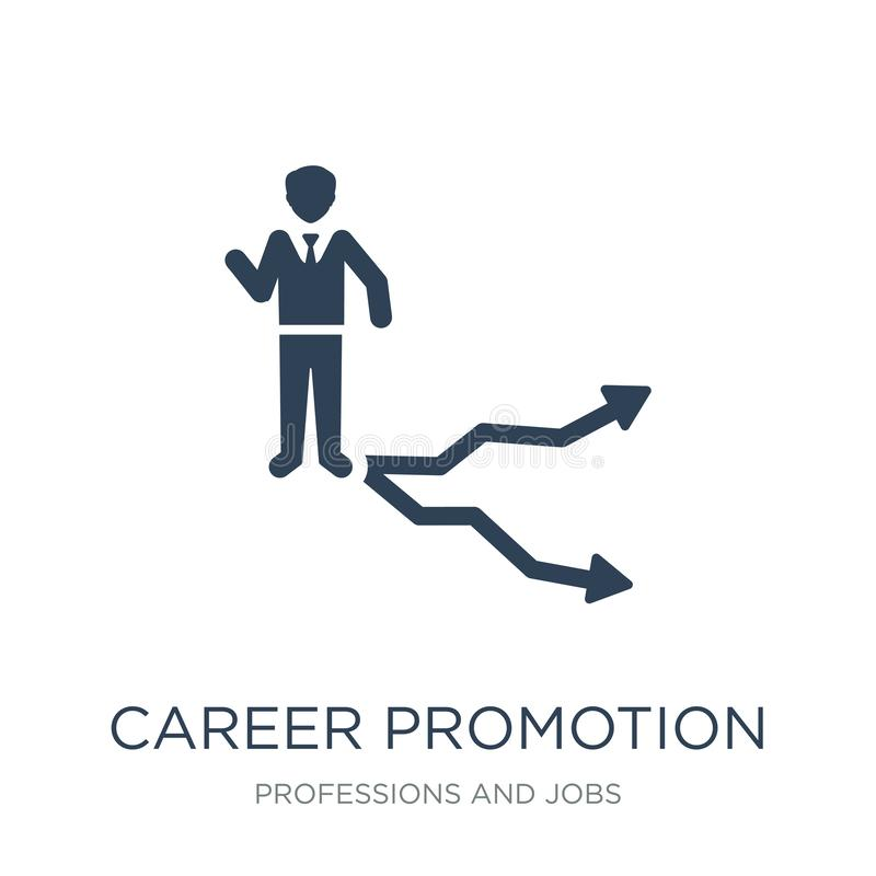 career promotion icon in trendy design style. career promotion icon isolated on white background. career promotion vector icon royalty free illustration