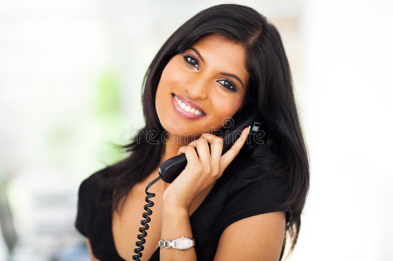 Career woman telephone stock photo