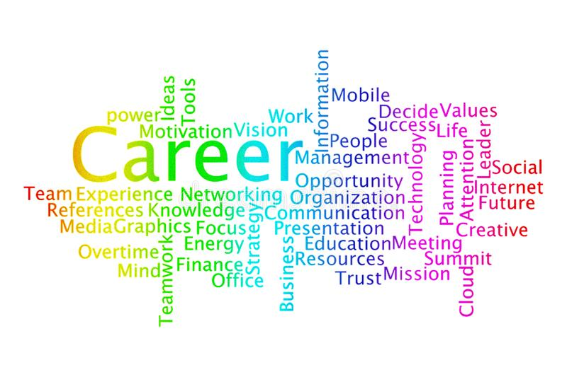 CAREER word cloud collage. stock illustration