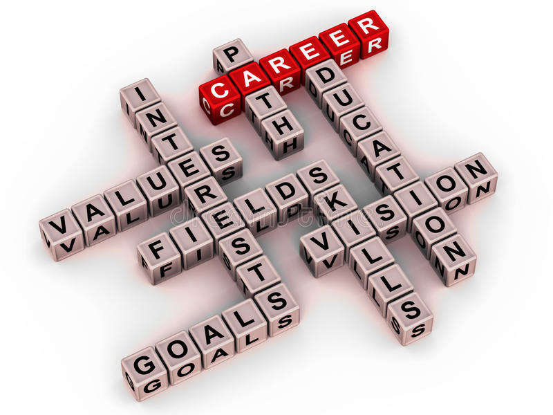 Download Career words stock illustration. Illustration of jobs - 26129353