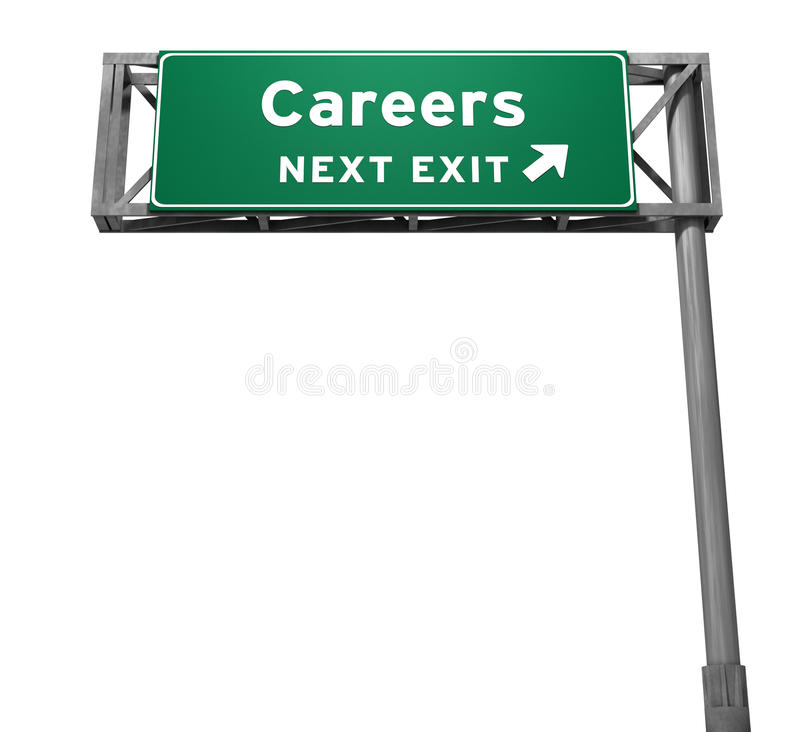 Download Careers Freeway Exit Sign stock illustration. Image of resources - 23254960
