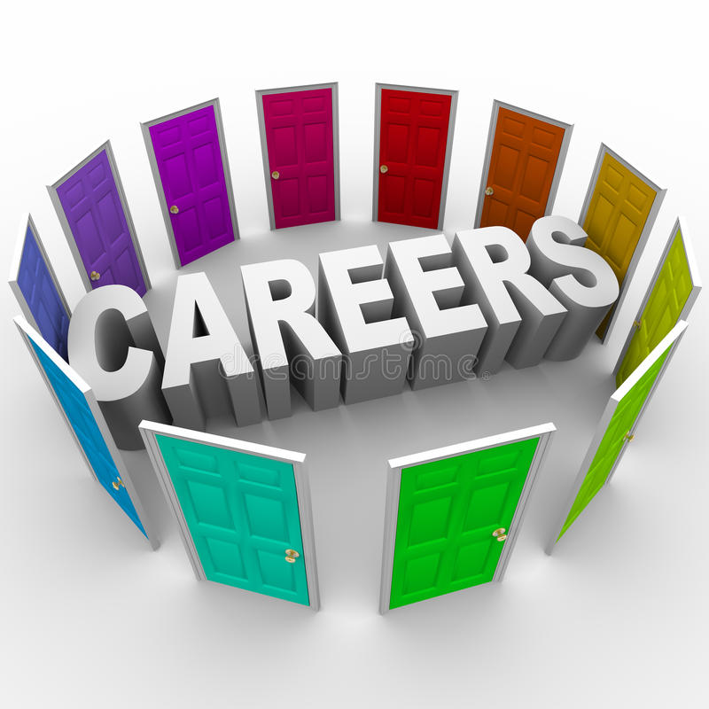 Free Careers - Word Surrounded By Doors Stock Photography - 13800612