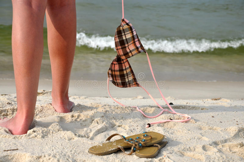 Download Carefree on the Beach stock image. Image of remove, flops - 14855911