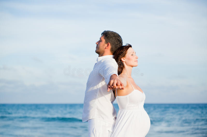 Download Carefree Beach couple stock image. Image of holidays - 16345991