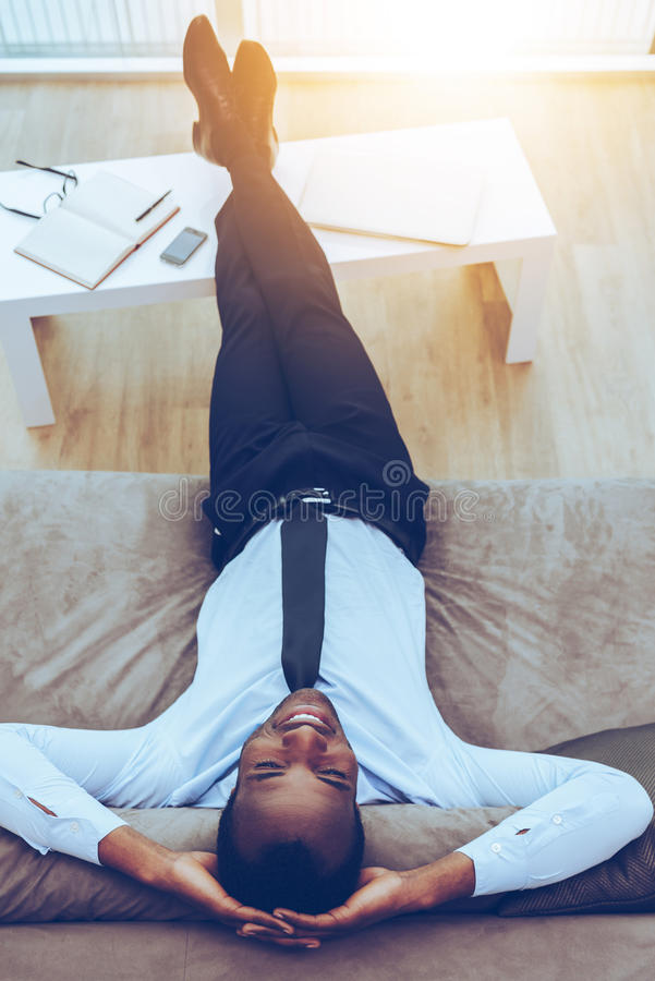 Carefree daydreamer. stock images