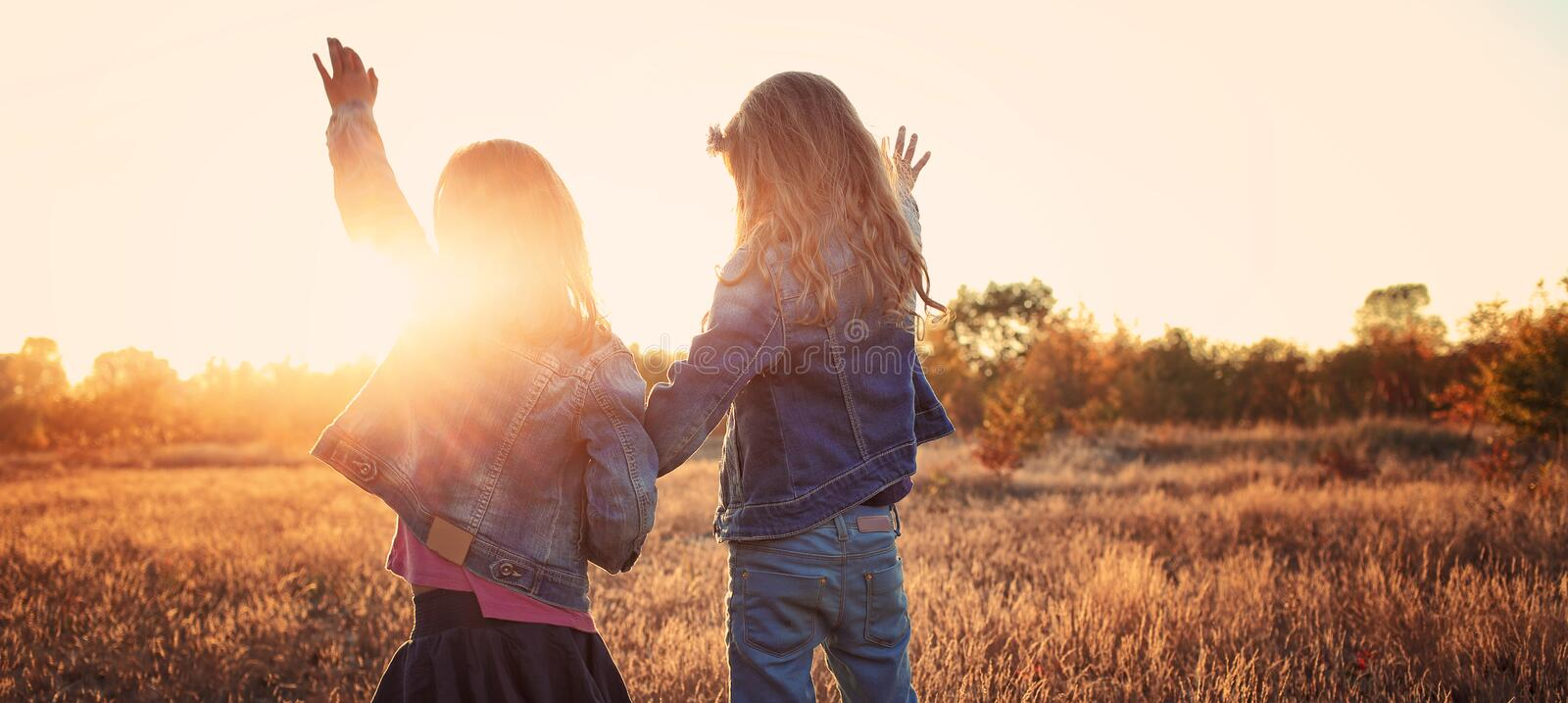 Carefree friends have fun stock photos