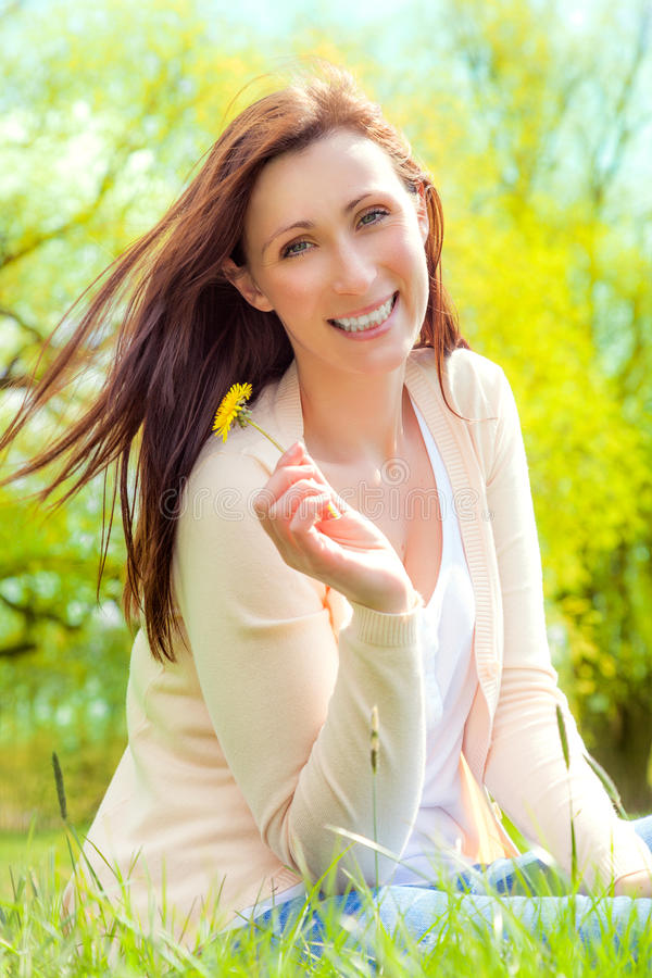 Download Carefree stock photo. Image of hand, brunette, beautiful - 30403548