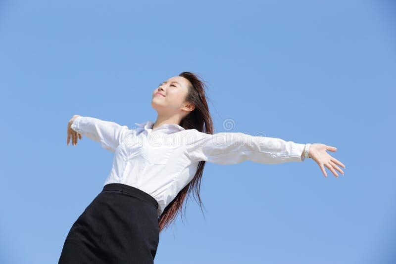 carefree kvinna för affär royaltyfria foton