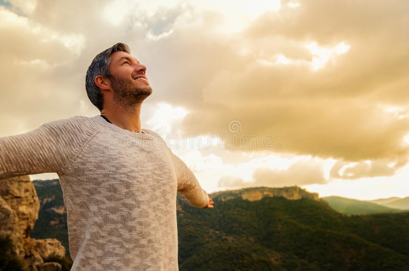 Carefree male royalty free stock photos