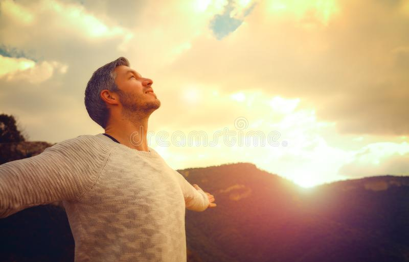 Carefree male royalty free stock photography