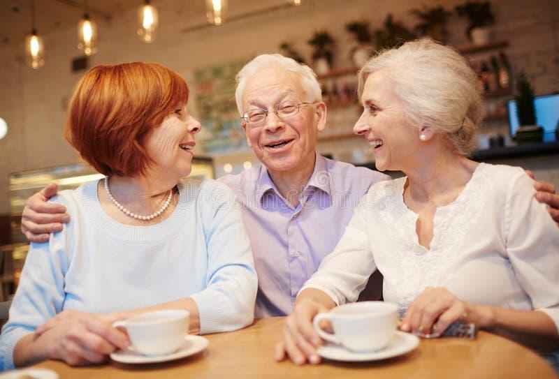 Carefree pensionärer royaltyfri bild