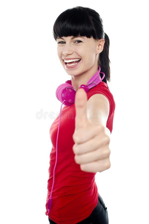 Download Carefree Teenager Flashing Thumbs Up Sign Stock Image - Image: 27847751