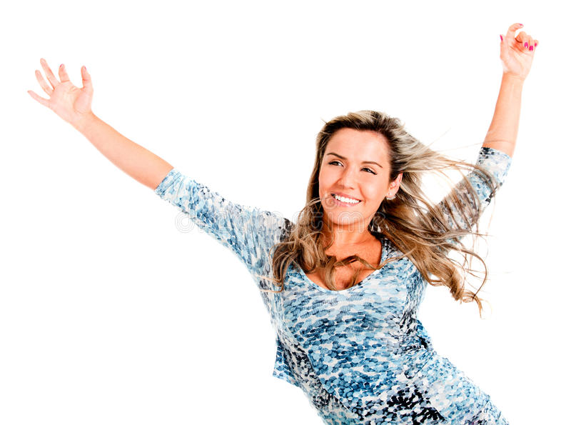 Download Carefree woman stock photo. Image of cheerful, fullness - 21718808