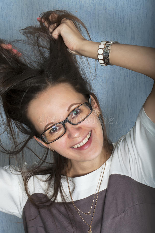 Carefree Woman stock image