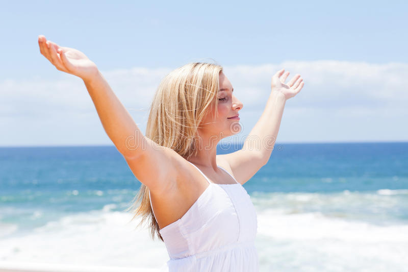 Download Carefree young woman stock image. Image of caucasian - 23461855