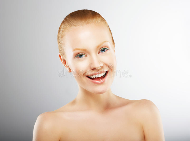 Download Carefree Young Woman Having Fun And Smiling. Pleasure Stock Image - Image: 31902331