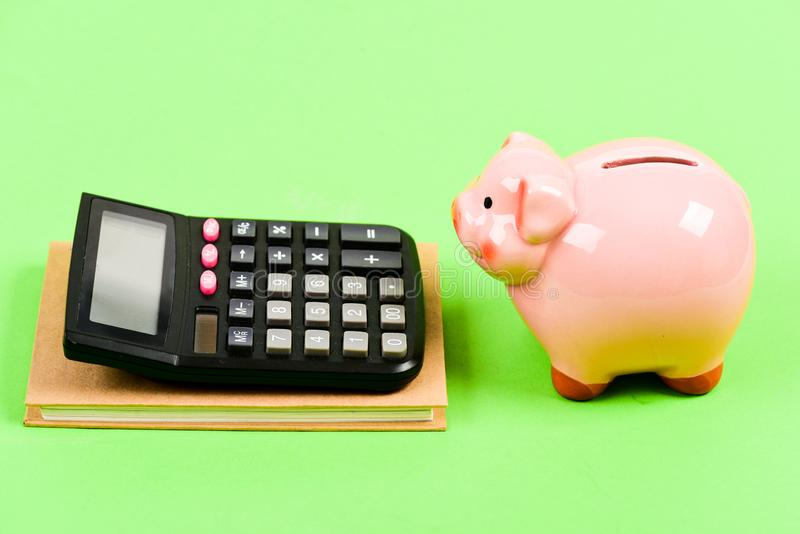Careful calculation. planning counting budget. Commerece business. capital management. bookkeeping. financial report royalty free stock image