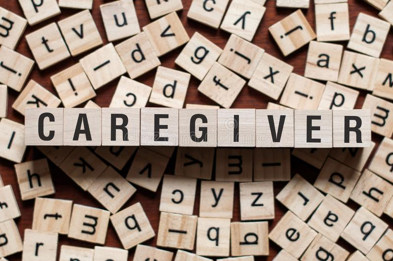 Caregiver word concept royalty free stock photography