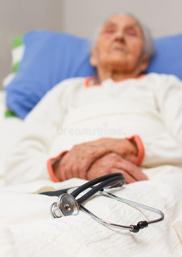Caregiving dla chorych ones obraz royalty free