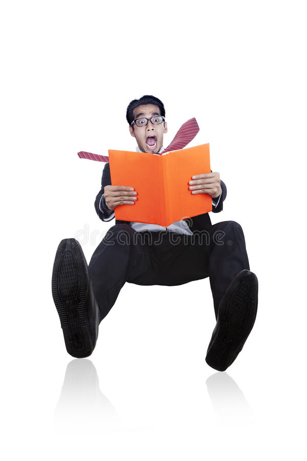 Download Careless Businessman Slipping On White Stock Image - Image of mistake, closeup: 25393629