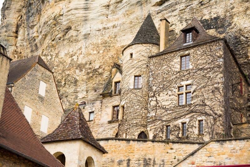 carennac村庄平安的街道法国的 库存照片