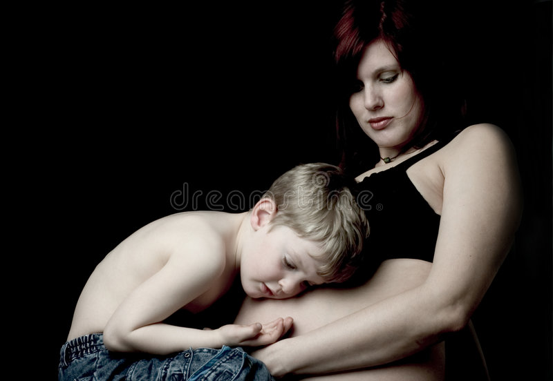 Caressing The Belly Stock Photography