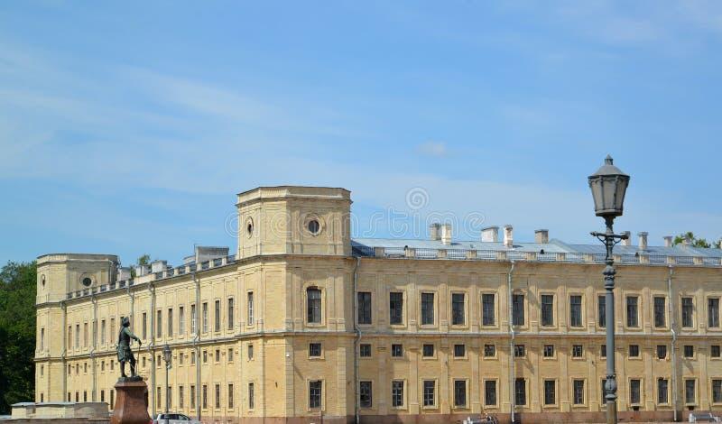 Caret południowa fasada Duży Gatchina pałac Rosja zdjęcia royalty free