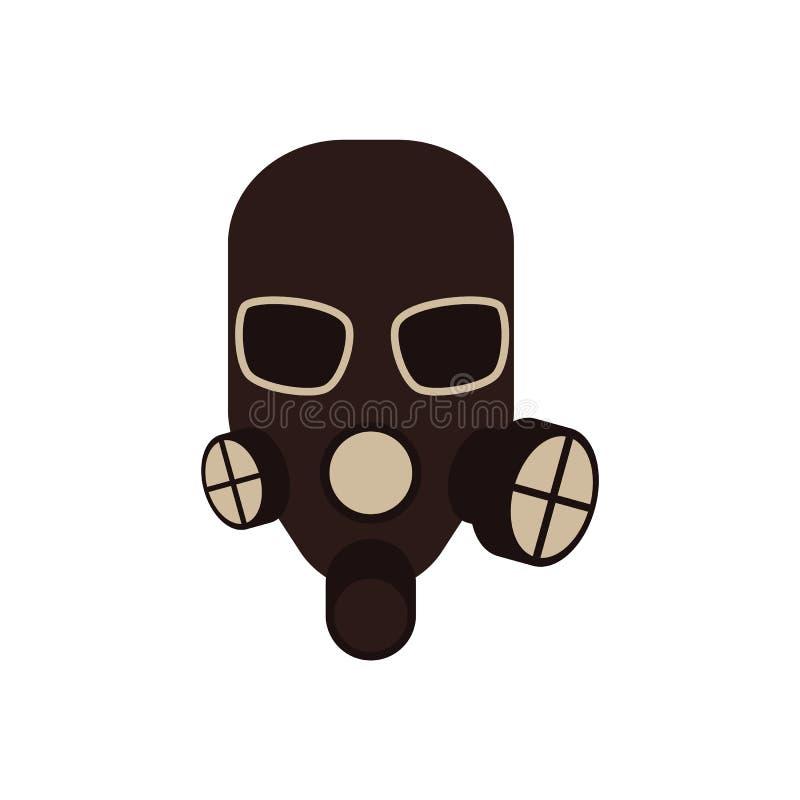 Careta antigás protectora del vector con el icono del respirador stock de ilustración