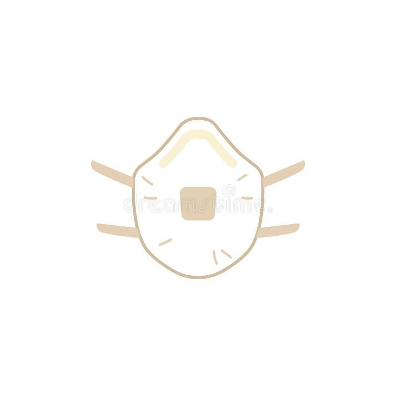 Careta antigás protectora del vector con el icono del respirador libre illustration