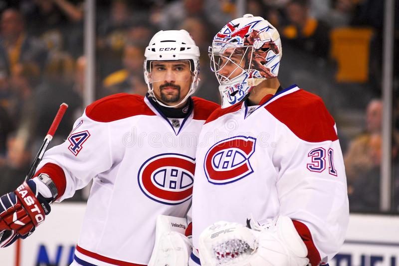 Carey Price and Thomas Plekanec,Montreal Canadiens royalty free stock images