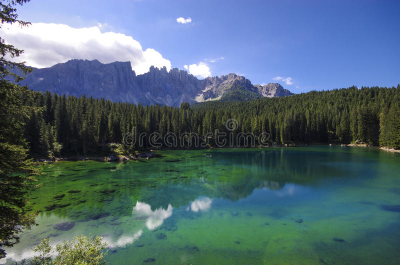 Carezza Lake royalty free stock photo